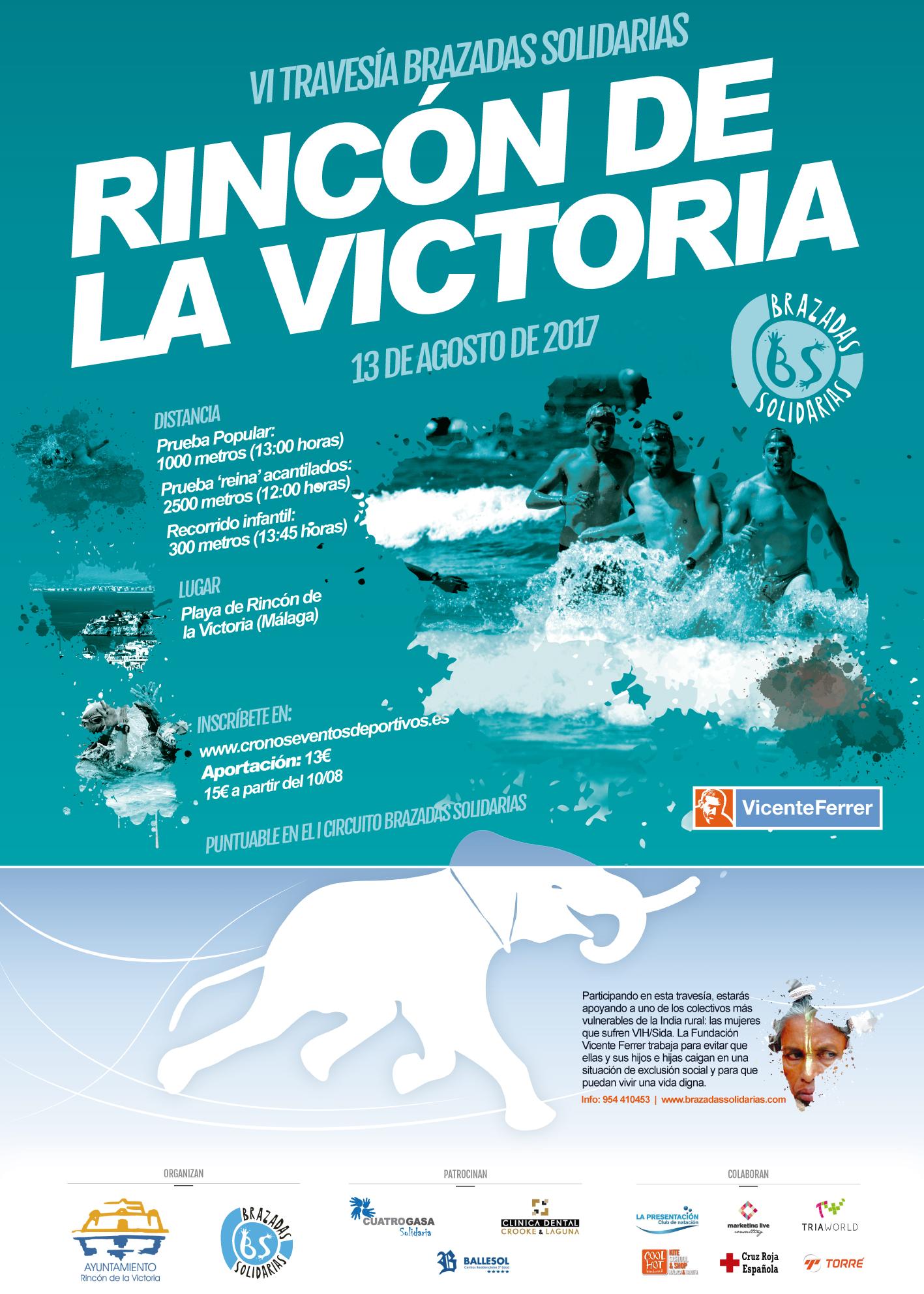 Travesía Brazadas Solidarias Acantilados Rincón de la Victoria