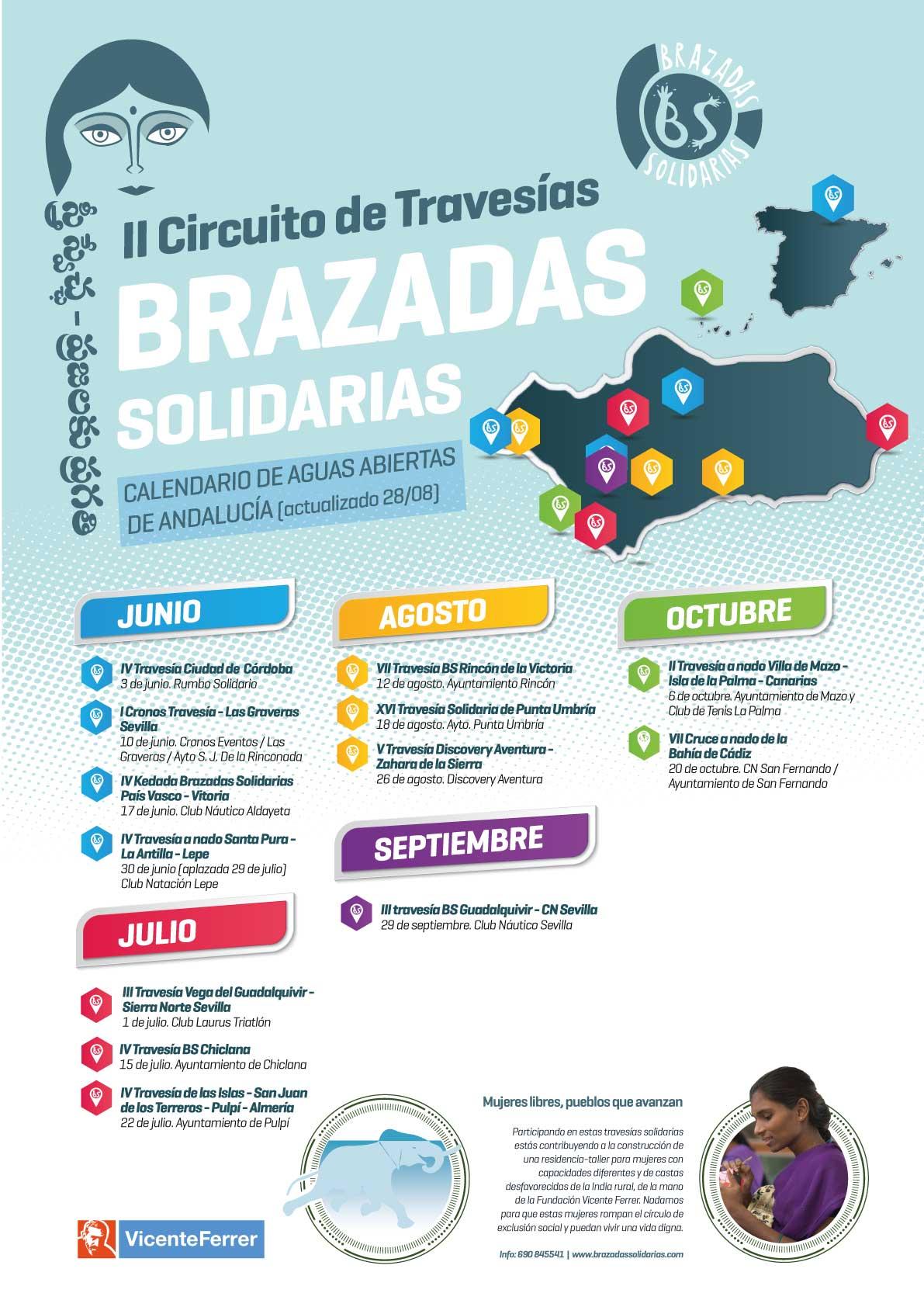 Calendario Brazadas Solidarias 2018